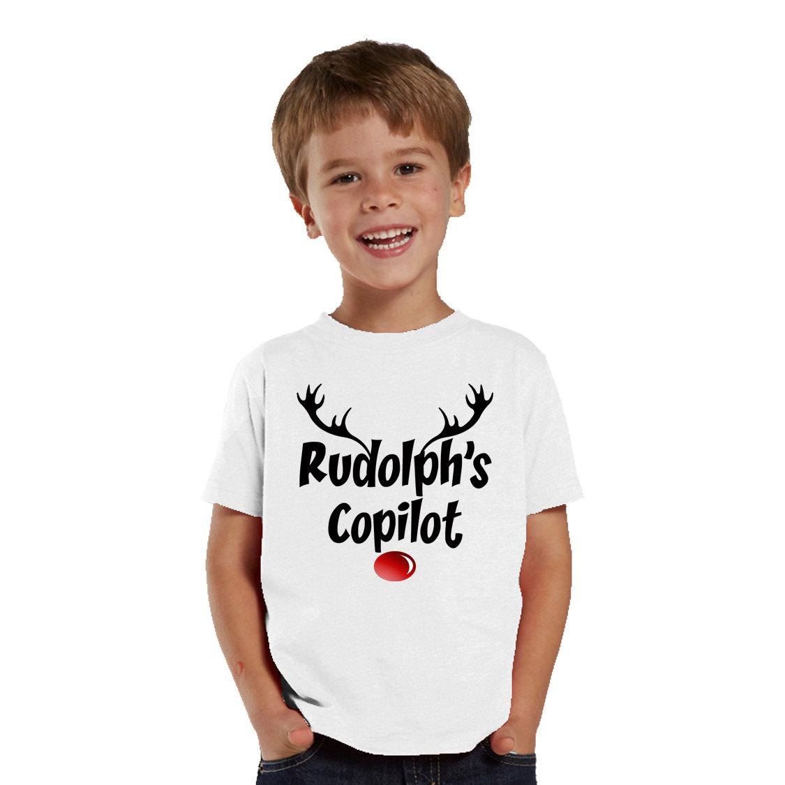 53ff79d1ce1 Rudolph s Copilot Kids T-Shirt