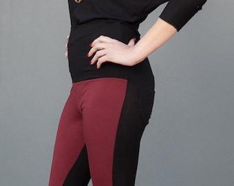 2fceadb2c6e70 Women's Two Tone Leggings, Yoga Pants, Long Tights, Stretch Pants, Long  Leggings, Skinny Pants, Two Color Leggings