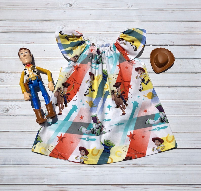 Girls Toy Story Flutter Sleeve Top ~ Baby Girl ~ Toddler ~ Woody ~ Jessie ~ Summer Clothes