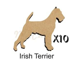 MDF Shape Dog 10 YORKSHIRE TERRIER MDF cutout keyring 5 SIZES FREE Hole  DOGW205