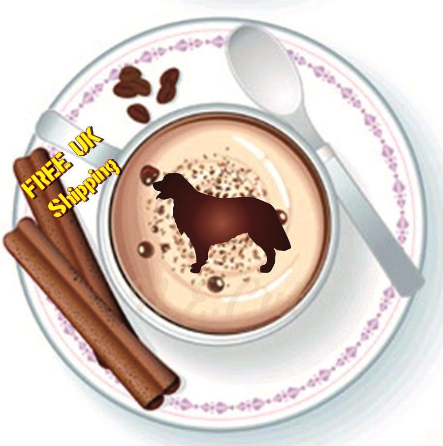 Dogc133 Golden Retriever Dog Stencil Coffee Cup Cup Cake Face