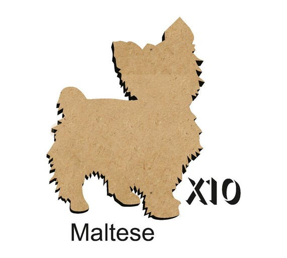 Pack of 10 GOLDEN RETRIEVER Dog blanks 4 size options 25mm,50mm,75mm,100mm from 3mm MDF DOGW133