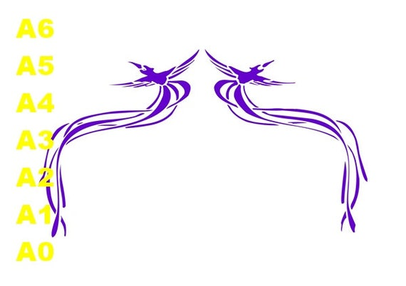 Flying display STENCIL A5,A4,A3,A2,A1,A0 Tattoo StyleTough Reusable 350 Micron Material Various Sizes  #BD004