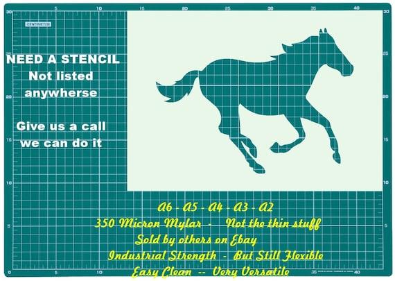 Horse Standing Mylar Reusable Stencil Airbrush Painting Art Craft DIY