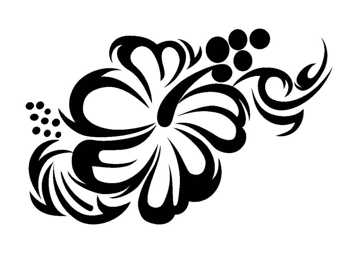 Beautiful flower stencil tattoo styletough reusable 350 micron beautiful flower stencil tattoo styletough reusable 350 micron material various sizes t058 izmirmasajfo