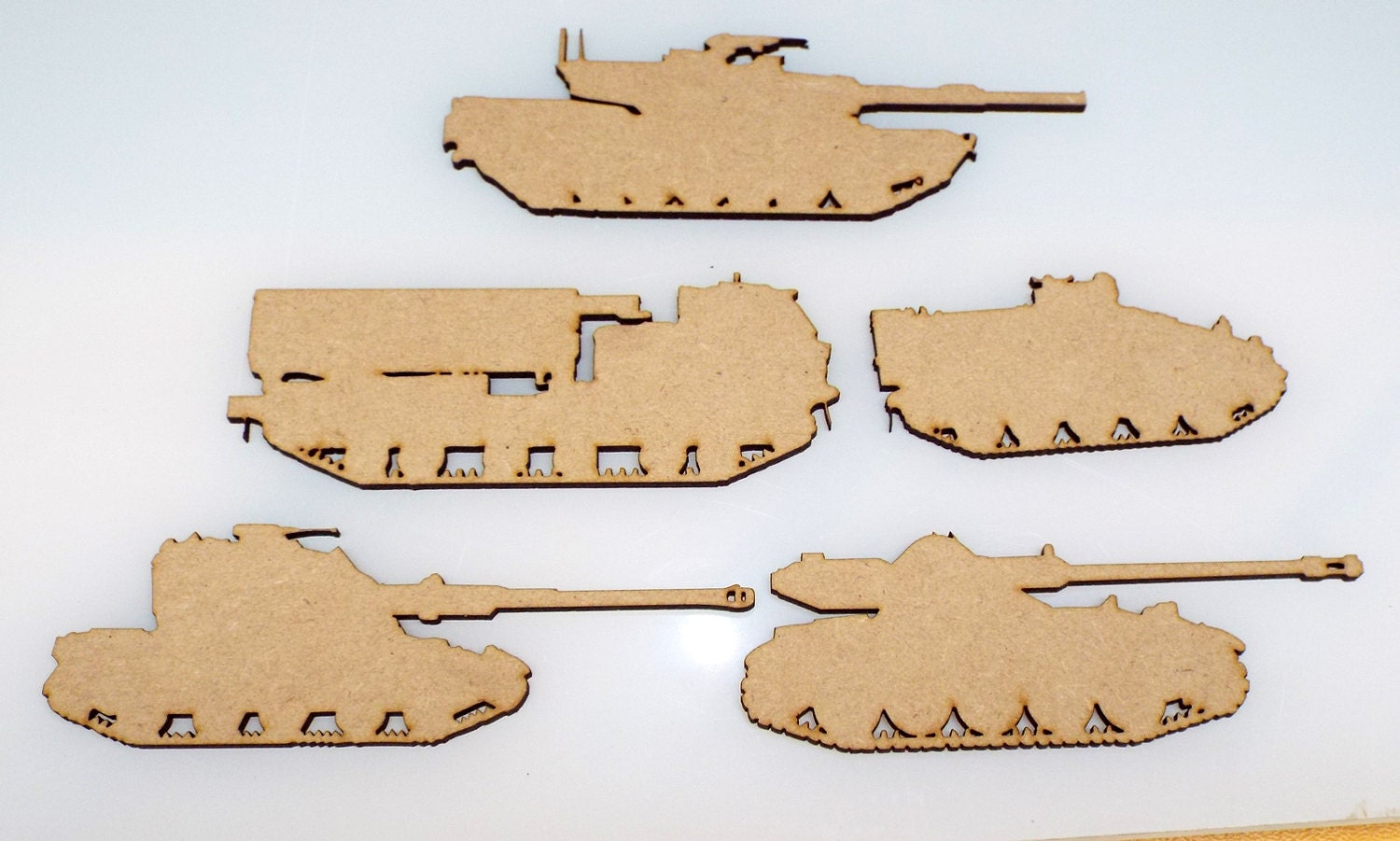Pk of 5 Tracked Vehicles Tanks Armoured Cars Gun Military Transport