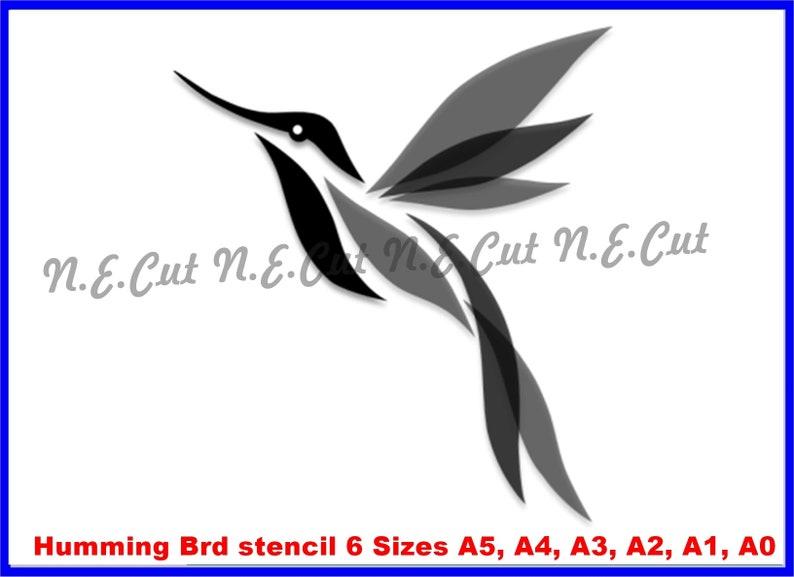 HUMMINGBIRD STENCIL A5,A4,A3,A2,A1,A0  Tough Reusable 350 Micron Material Various Sizes  #HBRD01