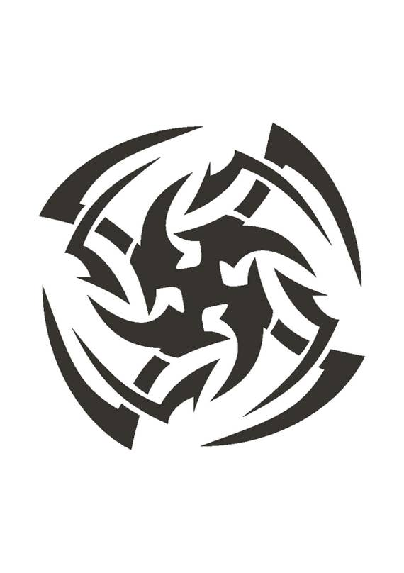 Tatuaje Estilo Lanzando Estrellas Plantilla Reutilizable 350 Etsy