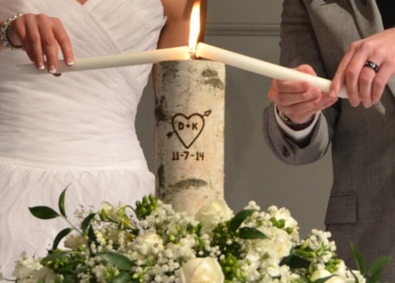 Rustic Unity Candle Monogram Ceremony Wedding Unity Candle image 0