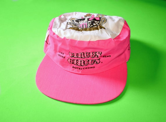 80s CIRCUS CIRCUS Snapback Painters Hat    Las Vegas Party     ac71086dd51
