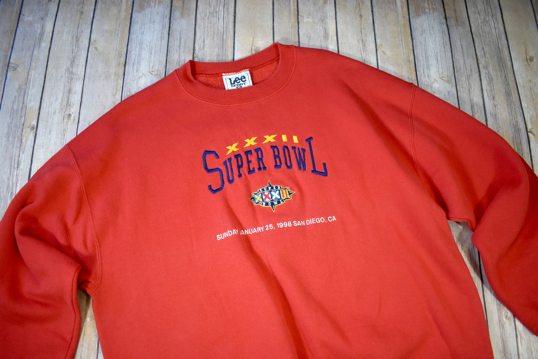 d8822fd2c 90s SUPER BOWL XXXII 32 Crewneck Sweatshirt    Size xl Extra
