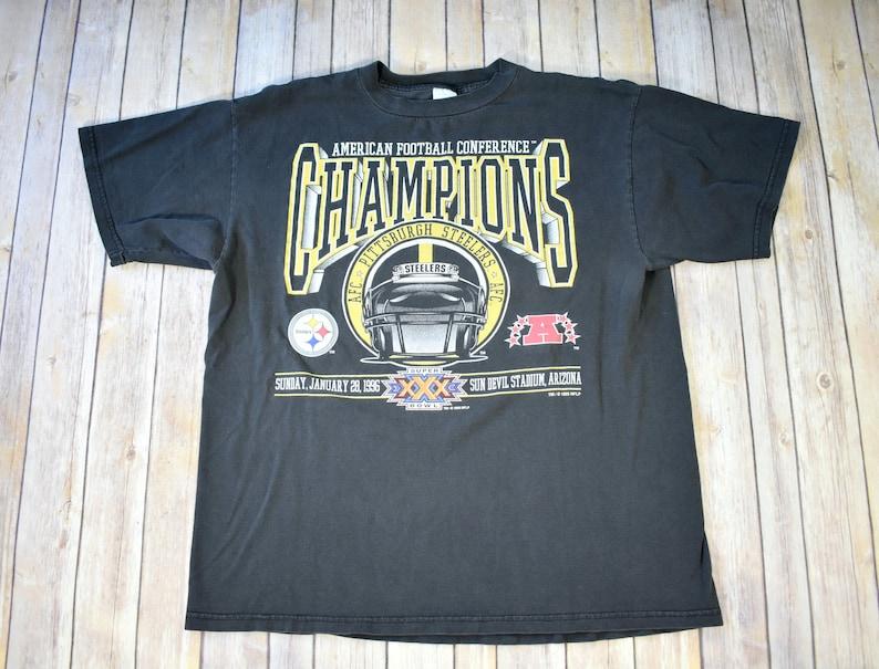 1996 PITTSBURGH STEELERS AFC Champions T-Shirt Tshirt Shirt     d364ffefe