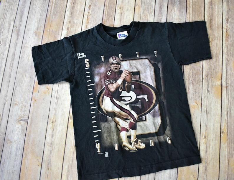 5b1a4834ac5 1996 STEVE YOUNG San Francisco 49ers T-Shirt    Kids Size