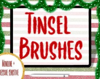 Tinsel Brush Pack for Procreate   Garland Brushes   Procreate Brushset   Procreate Tinsel/Garland Brushes     Ipad Brushes   Holiday Brushes
