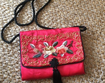 Kimmie Doll  Asian Inspired Tote Asian Bag  Oriental Toto  Tote Bag Shoulder Bag Purse