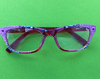 """Hand Painted """"Wayfarer"""" Reading Glasses,  """"Pink Lady"""" Trendy, detailed and funky. They come in all strengths made just 4 you."""