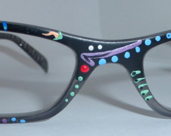 """Hand Painted  Reading Glasses 'Passion Fruit"""".. Trendy, detailed, fashionable. They come in all strengths and custom made just 4 you."""
