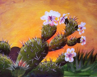 Prickly Pear Blossoms