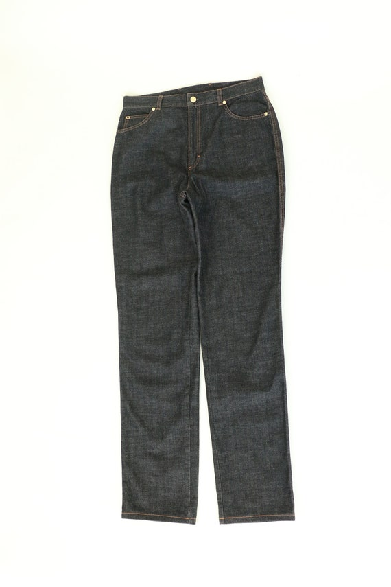 vtg. 90s ESCADA Dark Wash Straight Leg Jeans Small