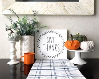 Give Thanks Sign- No Frame