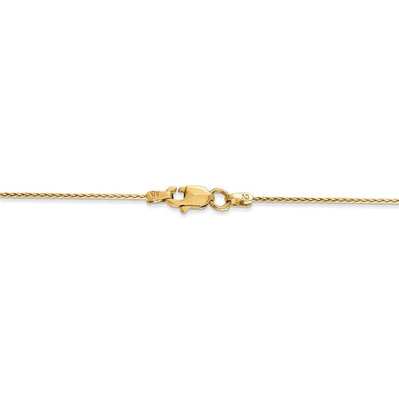 d90af5b9d46dd 14K Solid Yellow Gold 0.8mm Spiga Wheat Bracelet Anklet Necklace Pendant  Chain Lobster Clasp 6 7 9 10 14 16 18 20 24 30 inches
