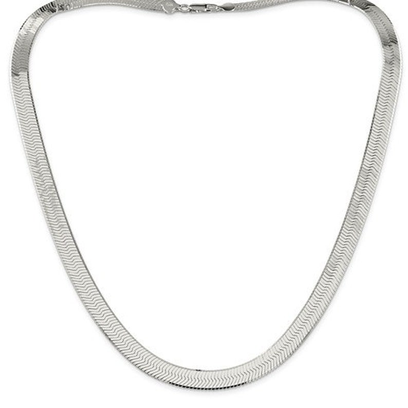 Sterling Silver 8.75mm Magic Herringbone Bracelet Anklet Choker Necklace Pendant Chain Lobster Clasp 7 8 18 20 24 inches