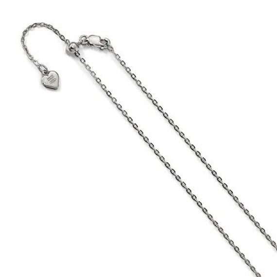 """Anti-Tarnish Adjustable Singapore Chain Necklace Real Sterling Silver Up to 22/"""""""