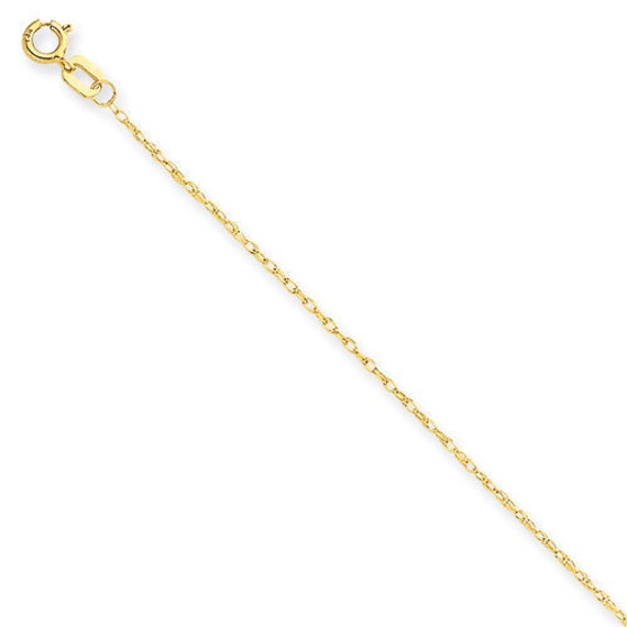 14K Yellow Gold 1mm Diamond Cut Cable 24 Chain
