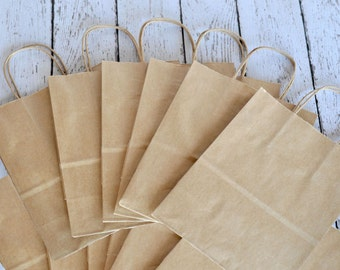 "10-pack of 8"" x 4 1/2"" x 10 1/4"" Kraft Bag with Handle"