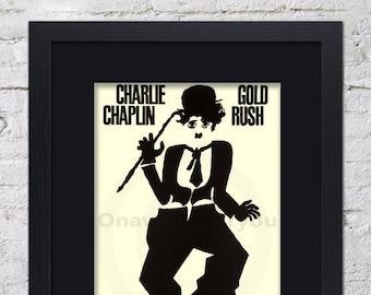Charlie Chaplin - Gold Rush - Mounted & Framed Vintage Print