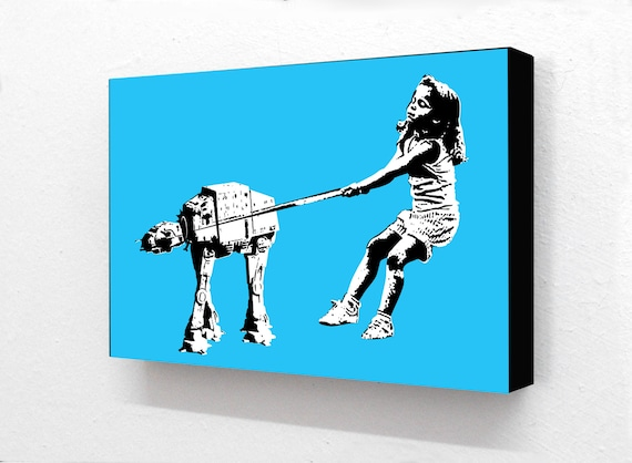 Banksy Star Wars Style Robot Dog 6 X 4 Inches 15 X 10 Cm Etsy