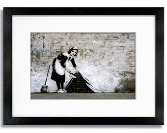 Banksy - The Camden Maid - Mounted & Framed Print