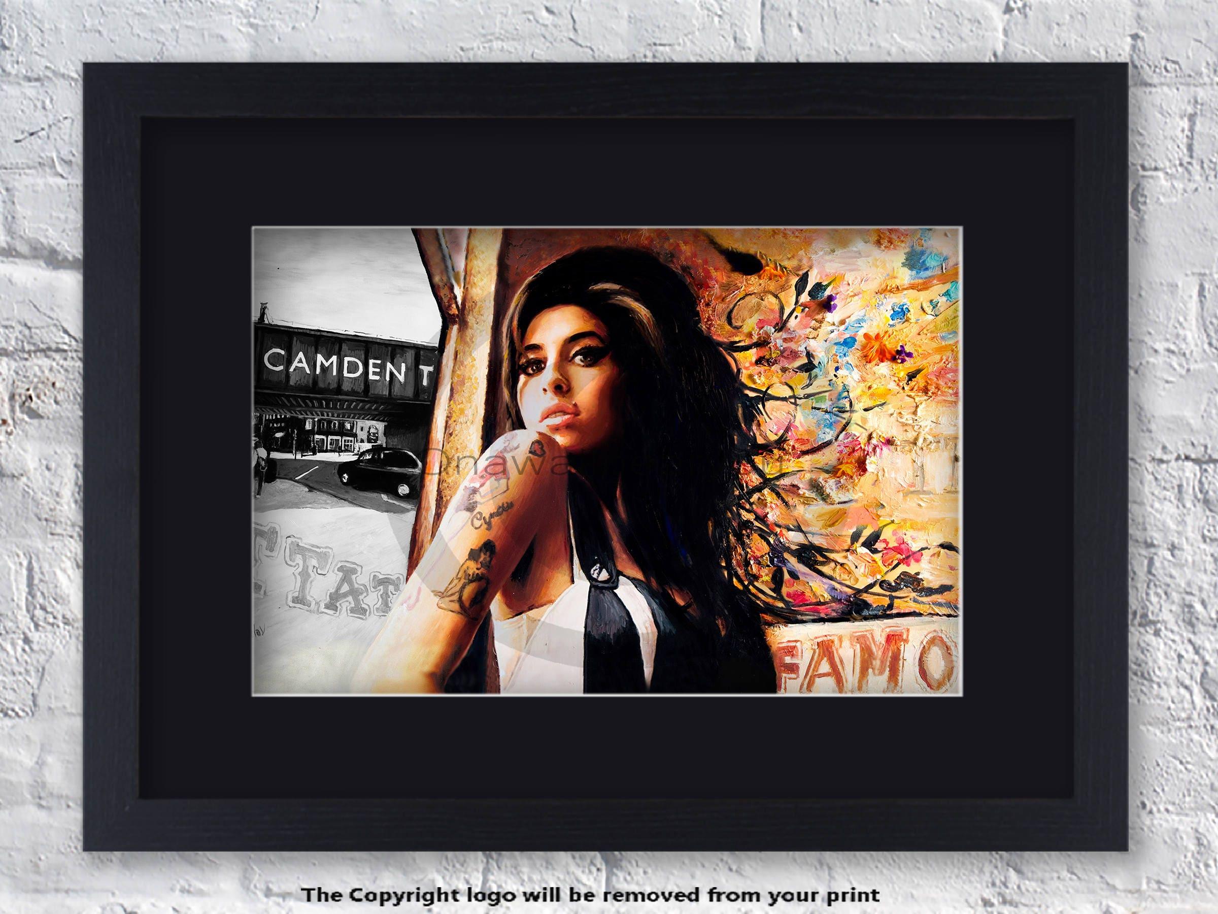 Amy Winehouse montiert und gerahmt Kunstdruck
