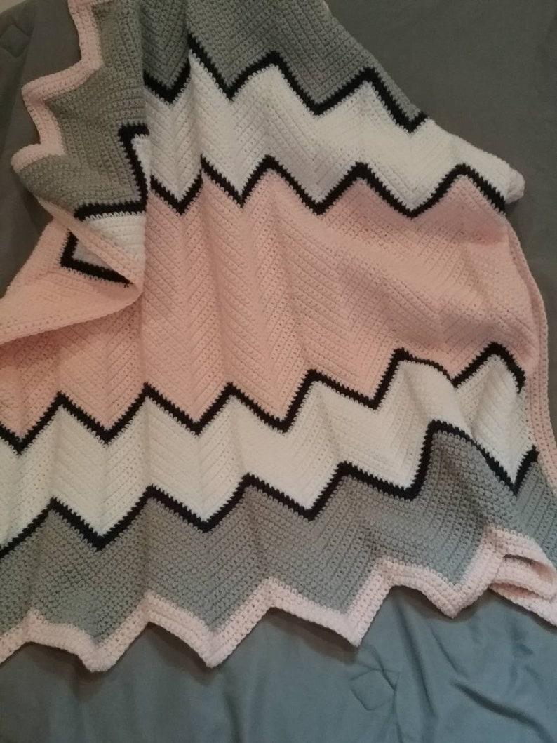 Crochet Blanket Chevron Blanket Chevron Afghan Crochet Etsy