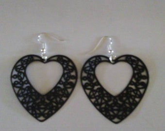 Lacy Hearts in black.