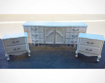 Pink And White French Provincial Girls Bedroom Set Etsy
