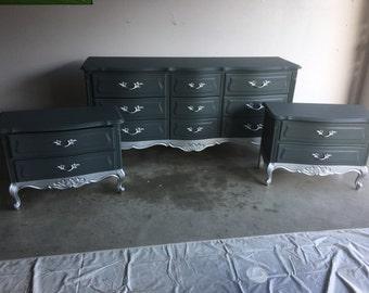 newest ed176 46cef Silver dresser set | Etsy