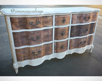 SAMPLE: shabby chic, distressed, french provincial Dresser, Nursery Changing table Baby changing | Etsy