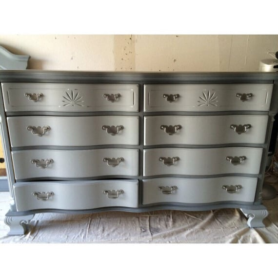 Grey Dresser Credenza Buffet Changing Table 9 Drawer | Etsy