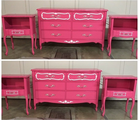 Pink And White French Provincial Girls Bedroom Set | Etsy