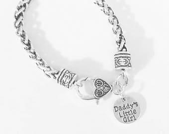 Gift For Her, Daddy's Little Girl Charm Bracelet, Christmas Gift Daughter Niece Friend, Daddy's Girl Charm Bracelet