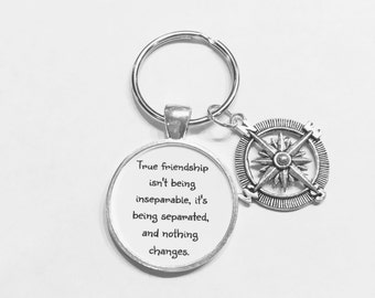 Best Friend Keychain Long Distance Relationship Gift Bff Gift Moving