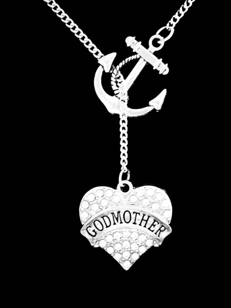 Mother/'s Day Gift For Godmother Anchor Lariat Necklace Godmother Necklace Godmother Jewelry