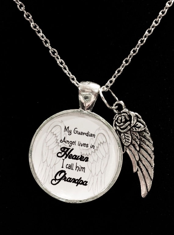 Guardian Angel Necklace /ï Sterling Silver /ï Memorial Gifts for Women /ï Sympathy Gift for Loss /ï In Memory of Mother Father Miscarriage Child Baby Son Daughter Husband /ï Piece of My Heart is in Heaven