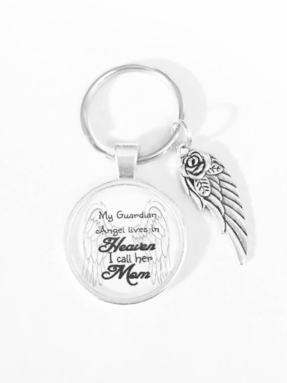 mom angel keychain guardian angel mother keychain in heaven etsy Norwegian Cruise image