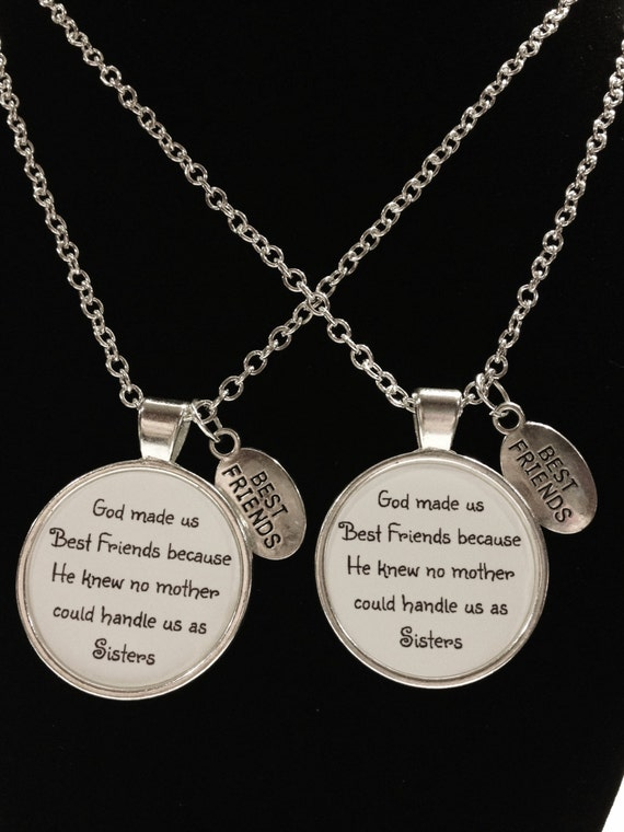 Best Friend Gift Best Friend Necklace God Made Us Best Etsy