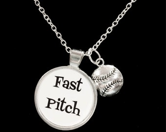 Softball Fast Pitch, Sports Theme Necklace