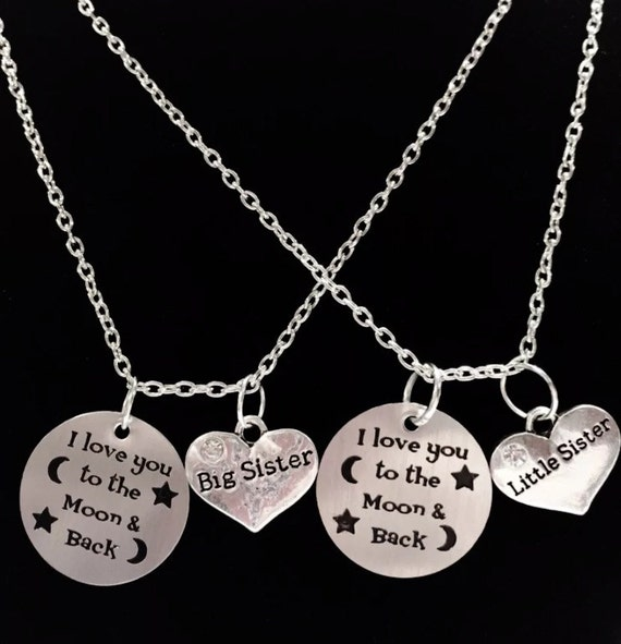 Sister Gift Sister Necklace 2 Necklaces I Love You To The Etsy