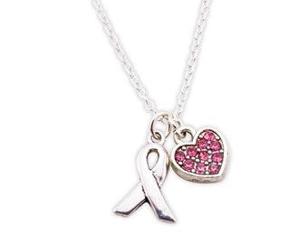 Survivor Necklace - Breast Cancer Survivor Gift - Cancer Survivor Gift - Gift for Survivor - Chemo Inspiration - Cancer Ribbon Charm - Hope