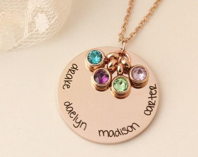Grandma Necklace - Necklace with Grandkids Names - Necklace with Kids Names - Personalized Necklace - Mommy Jewelry - Grandma Jewelry